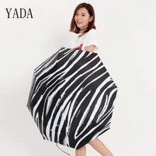 YADA New Charms Elegant Female Zebra Stripes Umbrella For Women Parasol Man Folding Anti-UV Sunscreen Sunny Rain YS318