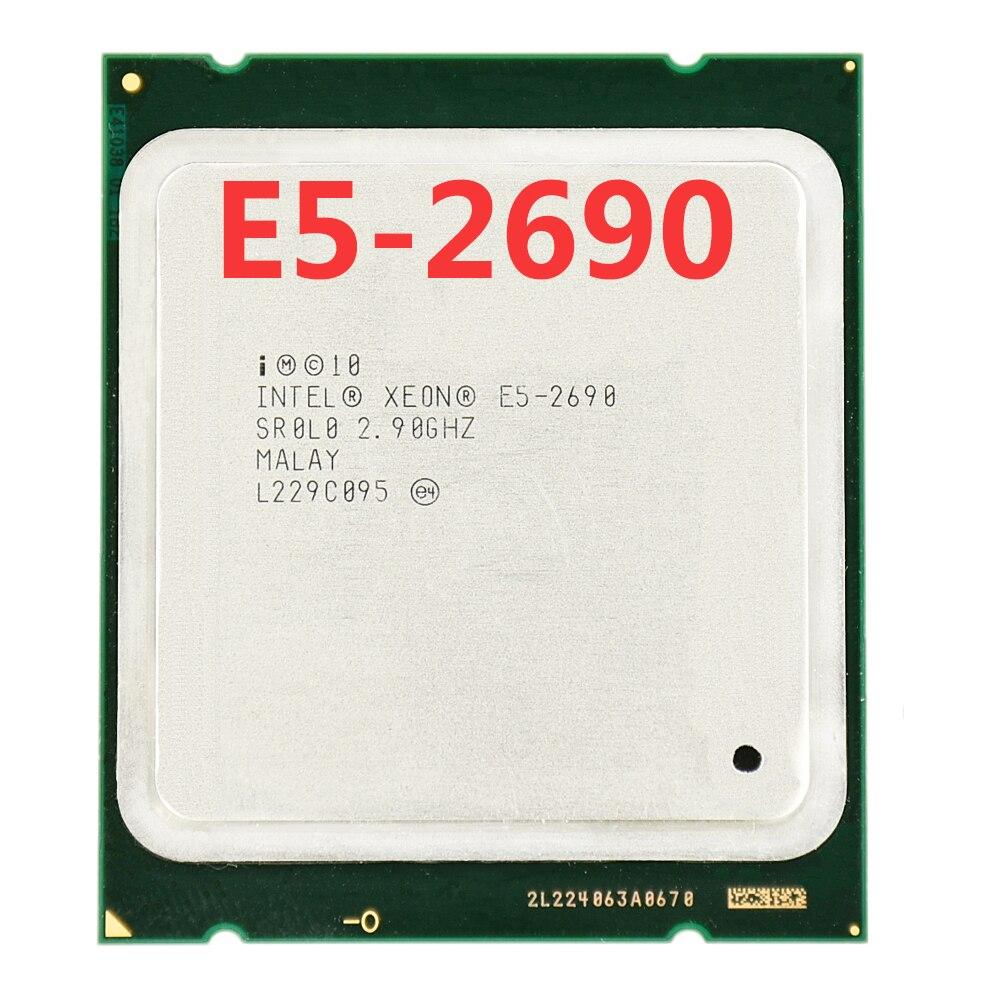 המקורי Intel Xeon E5-2690 2.90 GHZ 135 W ליבות 20 M מעבד E5-2690 LGA2011