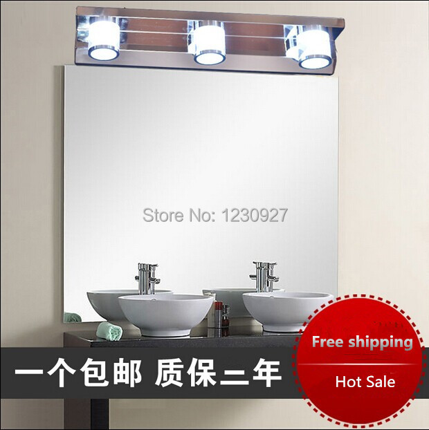 High quality hot sale 9W 46cm long 110V/220V white colour Led mirror light modern brief bathroom wall lamp makeup Led light fashionable design hot sale bathroom makeup mirror multiple colors wall mounted
