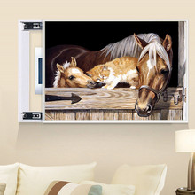 DIY 5D Diamond Animal Horse and Cat Cross Stitch Mosaic Embroidery Rhinestone Decorative Gift