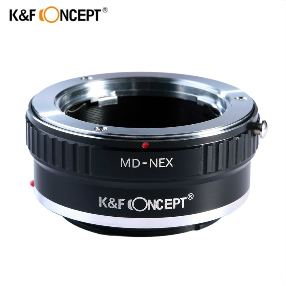 K&F CONCEPT MD-NEX Lens Adapter Ring for Minolta MD Lens to NEX E-mount Camera NEX-7 6 5R 5n F5 VG20 VG30 VG40 A5000 A6000 A7