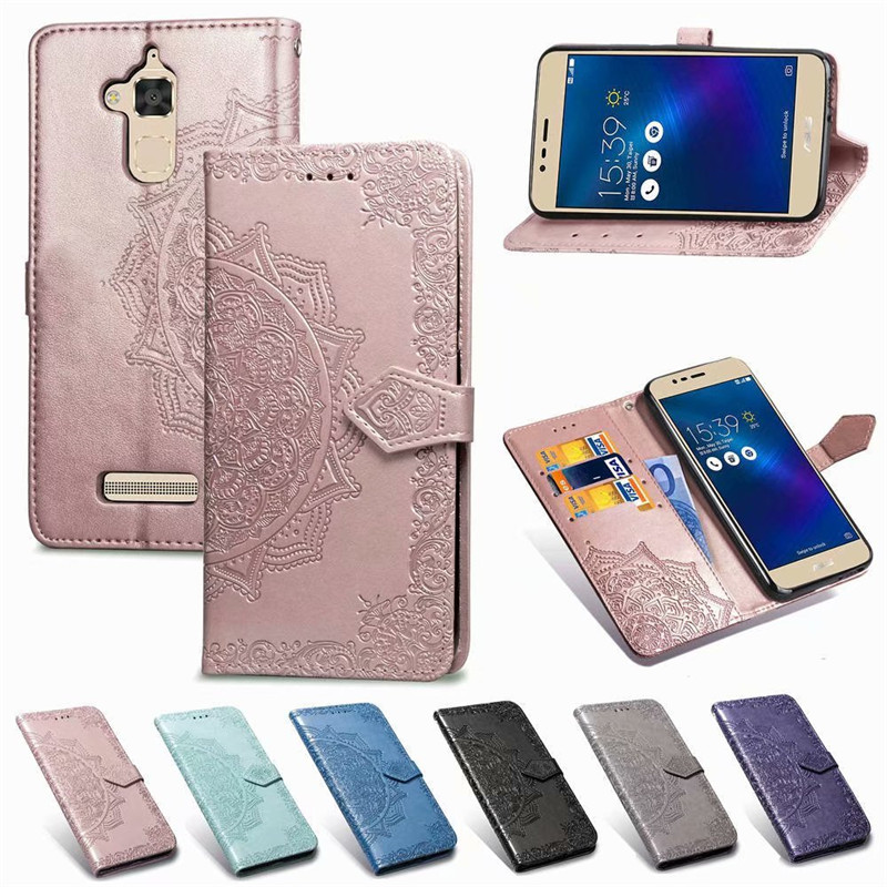 <font><b>ZC520TL</b></font> Case on for <font><b>ASUS</b></font> Zenfone 3 Max <font><b>ZC520TL</b></font> Case Flip Leather 3D Mandala Flower Case For <font><b>ASUS</b></font> Zenfone 3 Max Case Cover Coque image