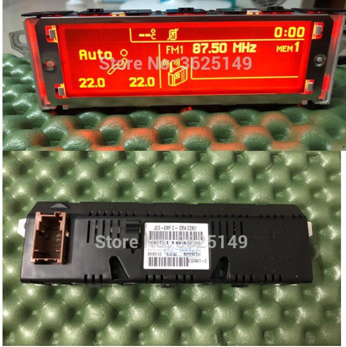 Écran rouge d'origine 5 Menu support USB Bluetooth moniteur d'affichage 12pin pour Peugeot 307 207 408 citroën C4 C5 écran