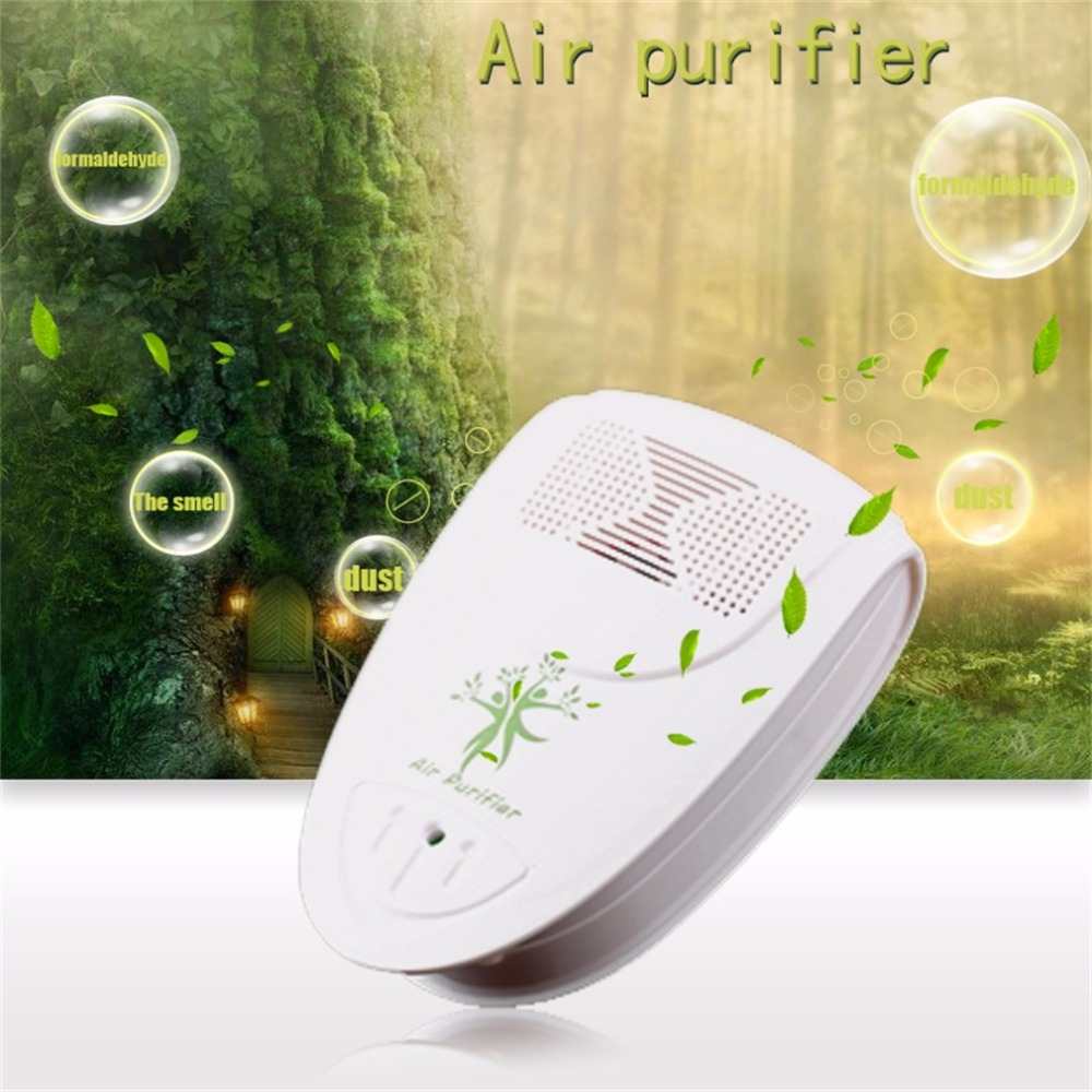 цена на Mini Indoor Oxygen Bar Lonizer Air Fresh Purifier Home Wall With US Plug Adapter Home Autocar Negative Ion Purifier 110/220V