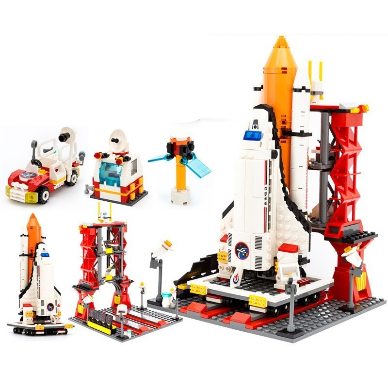 GUDI Spaceport Space Series Shuttle Building Blocks Bricks Compatible Legoe City DIY Educational Classic Toy For Children