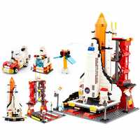 GUDI Spaceport Technic City Space Series Shuttle Building Blocks Bricks Compatible LeoiNGlys City Educational Toys For Children