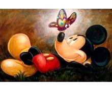 Mouse & Bees Diy Diamond Painting Cross Stitch Full Square Round Mosaic Decoration Resin