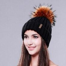 Ladies Knitted Wool Hat