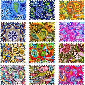 1 Sheet Fashion Colorful Full Cover DIY Watermark Sticker Nail Art Water Transfer Decals For DIY Nail Decor