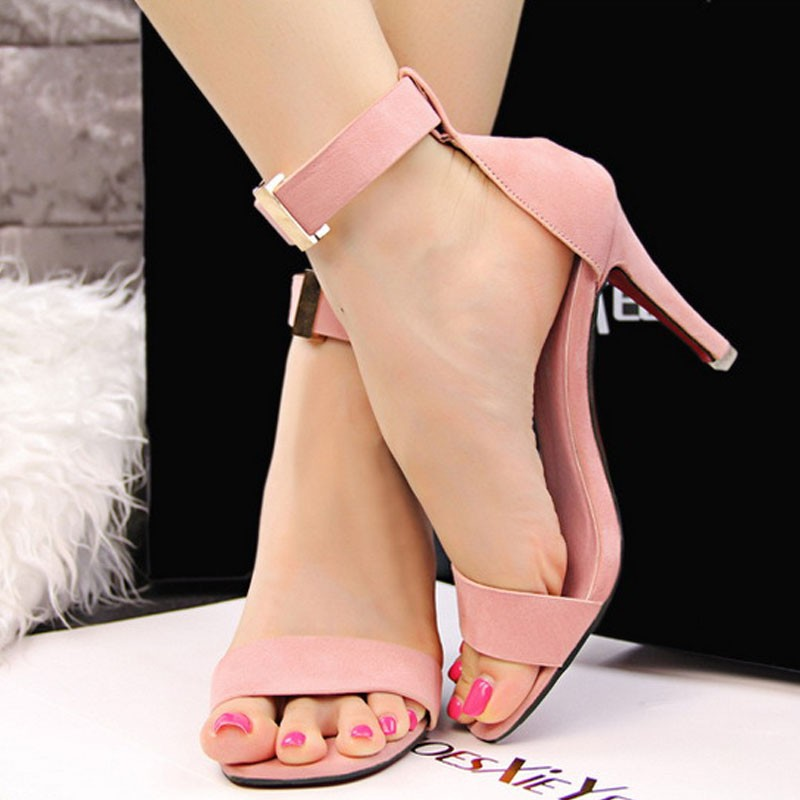 96f9b677e Fashion Pointed open Toe Platform Sexy High Heels Shoes Women Shoes 2017 Ladies  Stiletto Sandals Mujer Summer Shoes 8cm Heel-in Women s Sandals from Shoes