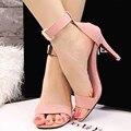 Moda Pontas Do Dedo Do Pé aberto Plataforma Sexy Sapatos de Salto Alto Mulheres Sapatos 2017 Senhoras Estilete Sandálias Mujer Sapatos de Verão 8 cm calcanhar