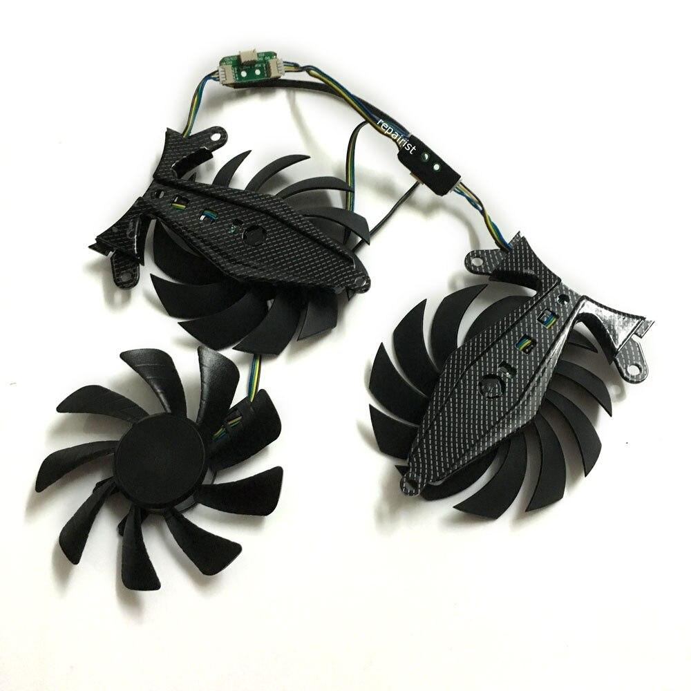 GTX970 GTX980 GTX1070 GTX1080 VGA GPU Cooler Graphics card fan 4Pin For ZOTAC GeForce GTX 970/980TI/1070/1080 Video Card cooling