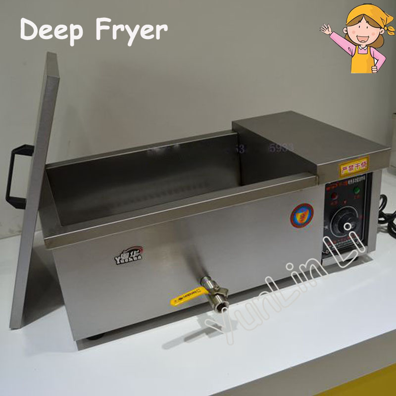 Multi-Function Deep Fryer Pot Commercial Household Fried Furnace for Potato Chicken Dough Sticks Frying Machine YF-12 shipule fast food restaurant 30l commercial electric chicken deep fryer commercial potato chips deep fryer frying machine