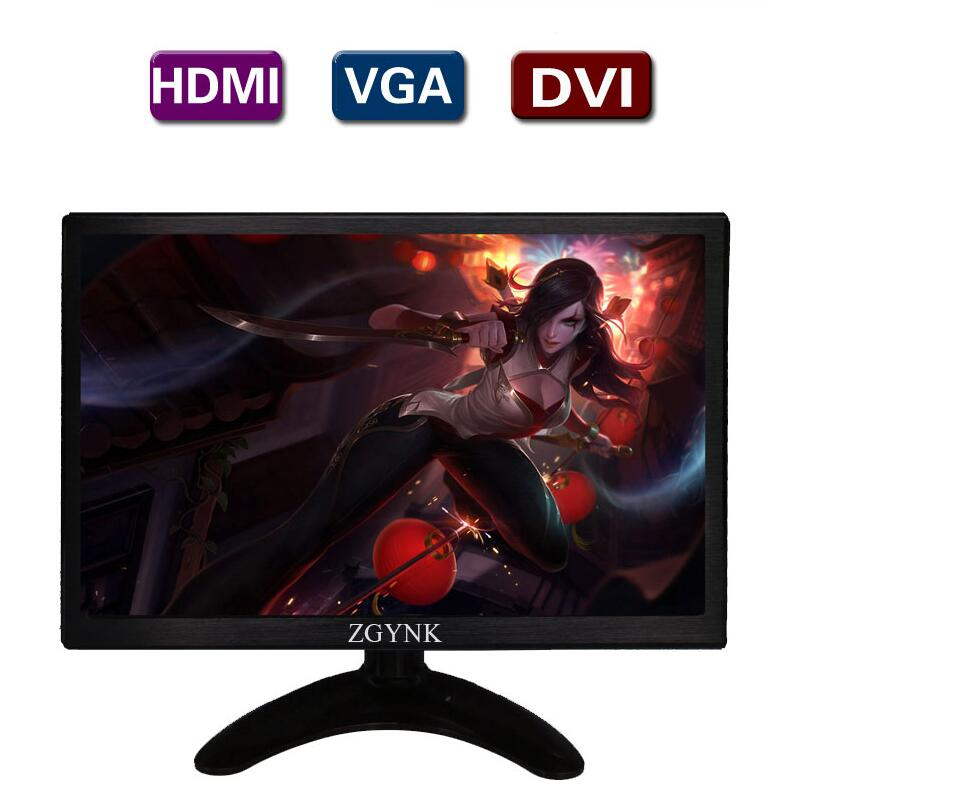 Moniteur LCD industriel 10.1 pouces IPS DVI VGA HDMI moniteur PC mince, moniteurs de bureau HD 1280x800