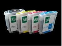 10sets /lot RIC the empty for HP printers 88 with Auto Reset Chips Ink Cartridges printer|chip reset|ink reset|reset hp 88 -