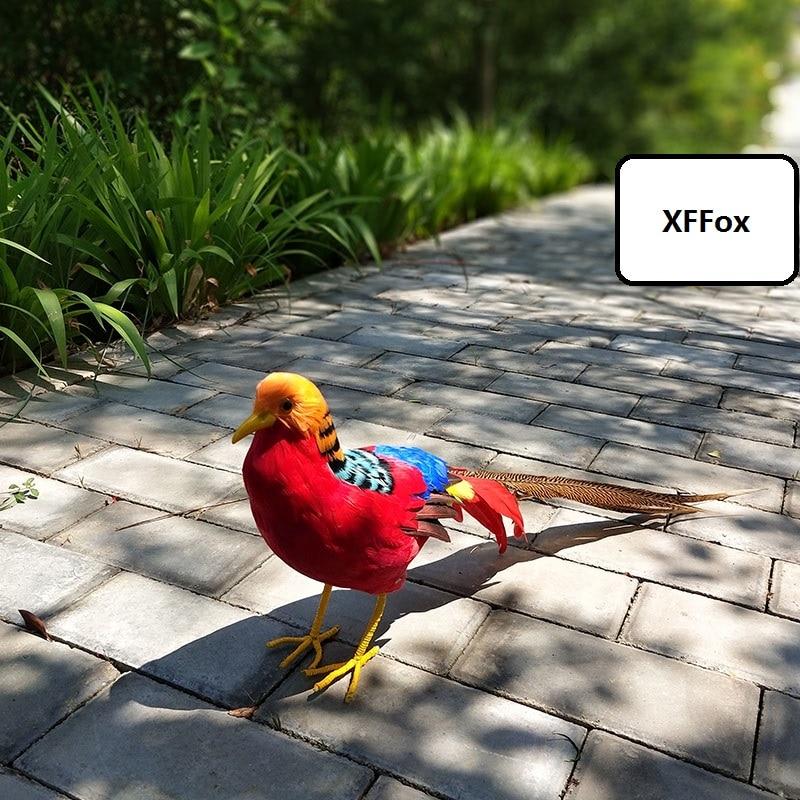Nouveau modèle de faisan rouge simulation mousse et plume vraie vie faisan oiseau poupée cadeau environ 70 cm xf0997