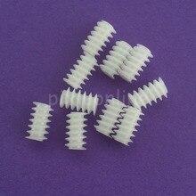 10 шт. J256Y белая правая рука пластик 6*10(2A) червячная турбина 0,5 Модуль редукторы DIY модели частей