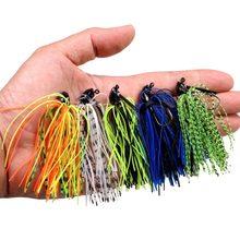 5 pçs 7g /10g/14g isca artificial cor misturada chumbo saia de borracha jigs de pesca cabeça buzz nadar baixo gabarito iscas de pesca