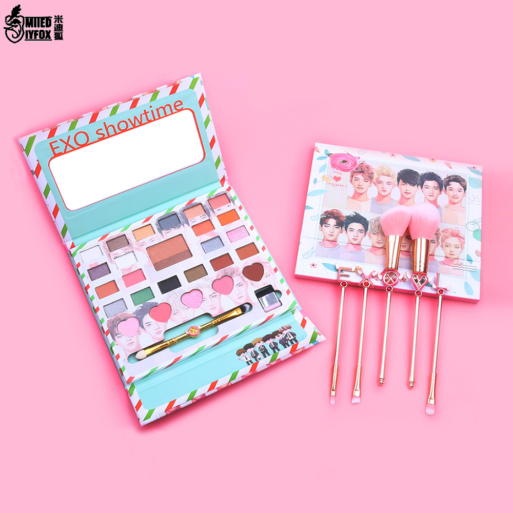 Beauty Essentials New Korea Exo Eye Makeup Nudes Palette 26colors Matte Eyeshadow Pallete Glitter Powder Eye Shadow With Brush Set Stamp Pigment