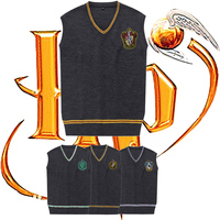 Harri Potter Sweater Gryffindor Slytherin Cosplay Costume Sweater with Embrodiery Waistcoat Black Vest Daily Clothes Men Women
