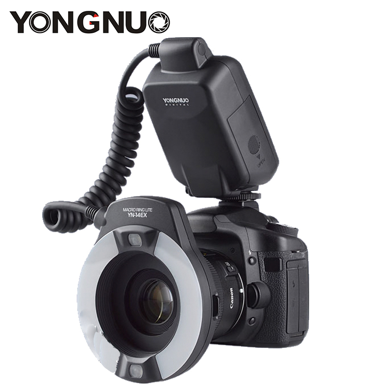 New Yongnuo YN-14EX YN14EX TTL Macro Ring Flash Speedlite Light for Canon 5D Mark II 5D Mark III 6D 7D 60D 70D 700D 650D 600D marrex mx g10 gps receiver gps unite geotag replace for canon 60d 7d 6d 70d 5d mark ii 5d3 700d 650d etc cameras