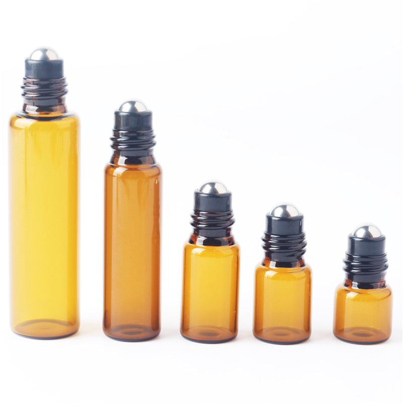 5pieces/lot 1ml 2ml 3ml 5ml 10ml Glass Roll on Bottle with Stainless Steel Roller Small Essential Oil Roller-on Sample Bottle цена 2017