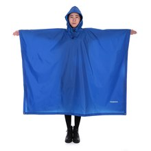 TOMSHOO Outdoor Poncho Backpack Rain Cover with Hood Waterproof Tent Rainwear For Camping Hiking Cycling tomshoo l