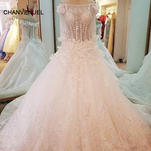 LS99642 special wedding dresses lace ball gown corset back wedding gowns 2017 robe de mariage real photos