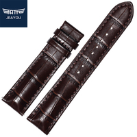 JEAYOU Top Grain Leather High Good Quality New Watch Strap Band For Men Tissot Longines Mido