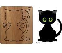 Fat cat wood mold Die New Craft Fits Bigshot & Leading Die Machine