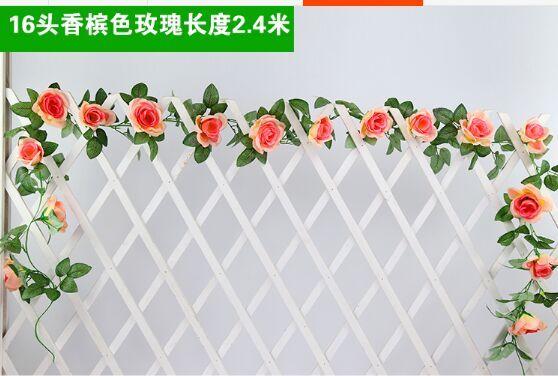 Imitation de Rose canne fausse fleur | Décoration dintérieur pour plafond de mariage, fausse couronne