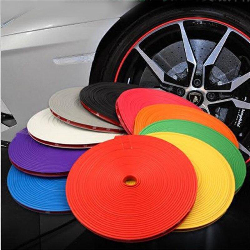 8 м Автомобильная наклейка на колеса, автомобильная Декоративная полоса, защита обода от автомобильных шин, чехлы для ухода за автомобилем
