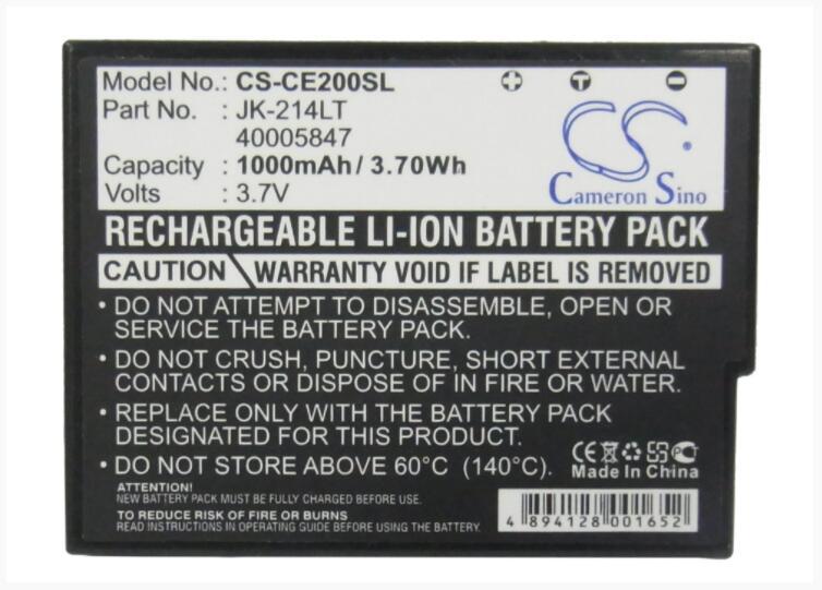 Cameron Sino 1000 mAh batterie pour CASIO Cassiopée K-835PU E-200 E200G MR-CE200 JK-214LT 835PU MR-CE200 pour MEDION MD41338