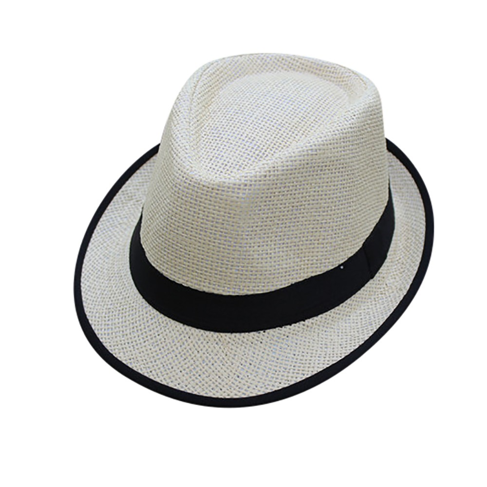 1fcd151b4ae49b Sleeper #5001 Unisex Men Women Beach Straw Hat Jazz Panama Trilby Fedora Hat  Gangster Cap Sombrero Hut Strohhut free shipping ~ Hot Deal July 2019