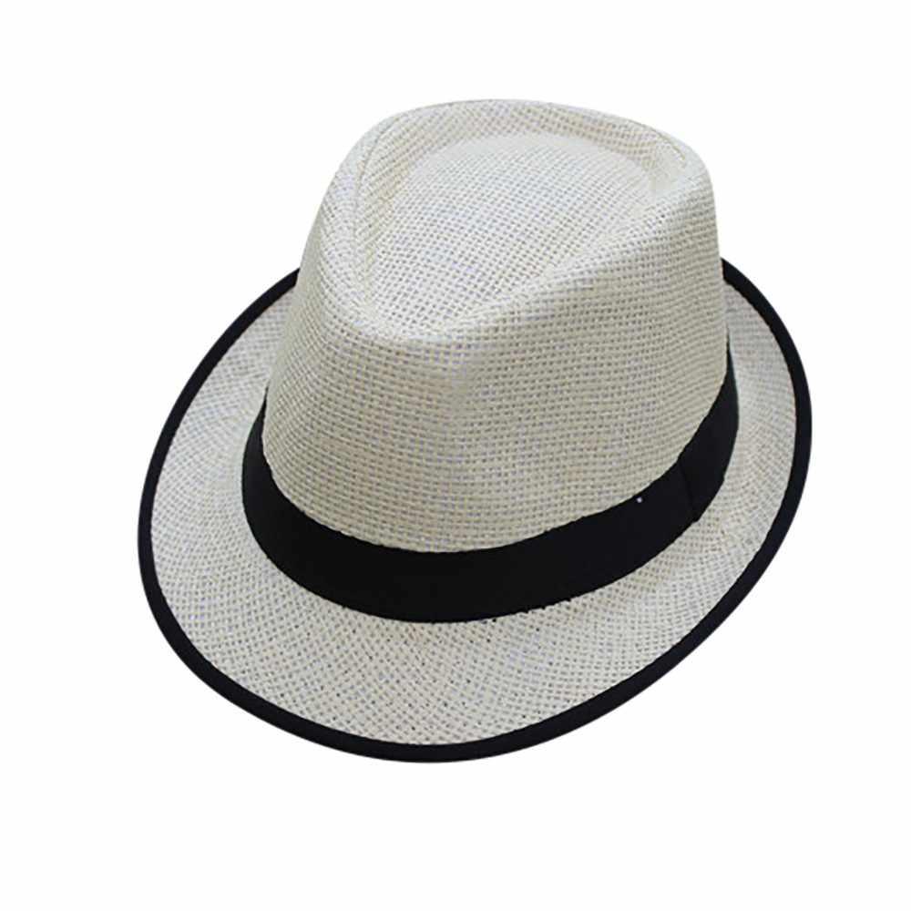 04e4217b8a4 Sleeper  5001 Unisex Men Women Beach Straw Hat Jazz Panama Trilby Fedora Hat  Gangster Cap