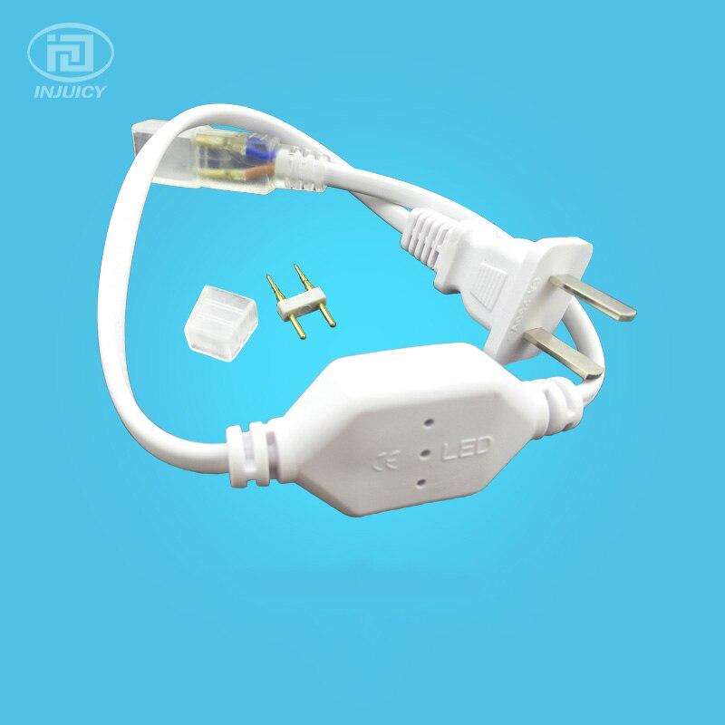 3528 5050 3014 2835 LED Strip Light Controller Plug FOR AC110V-220V Tape LED String Ribbon Strip Lighting With Contact Pin