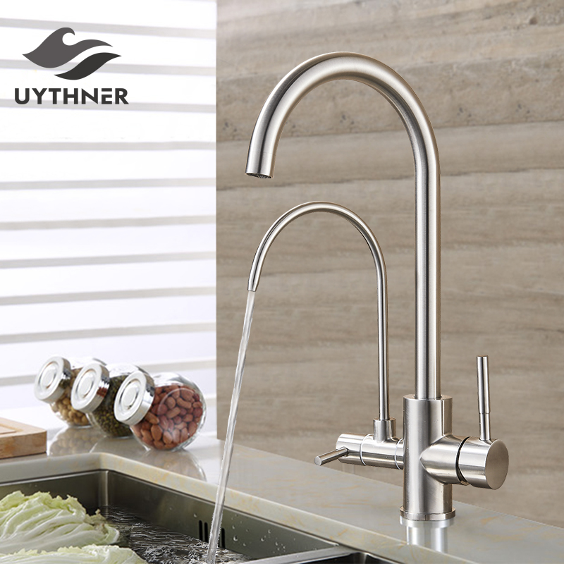 Kitchen Faucet Purified Water Purification Faucets Deck: Uythner Filter Kitchen Faucets Deck Mounted Mixer Tap 360
