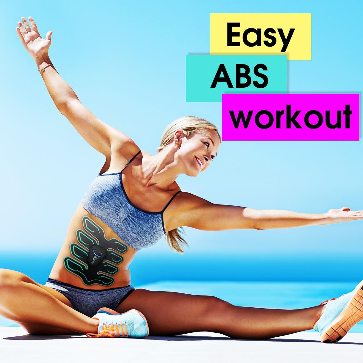 KIFIT 6 Mode 10 Intensity 8 Pads Muscle Training Toning Slim Stimulator Abdominal Electric Weight Loss Slimming Massager