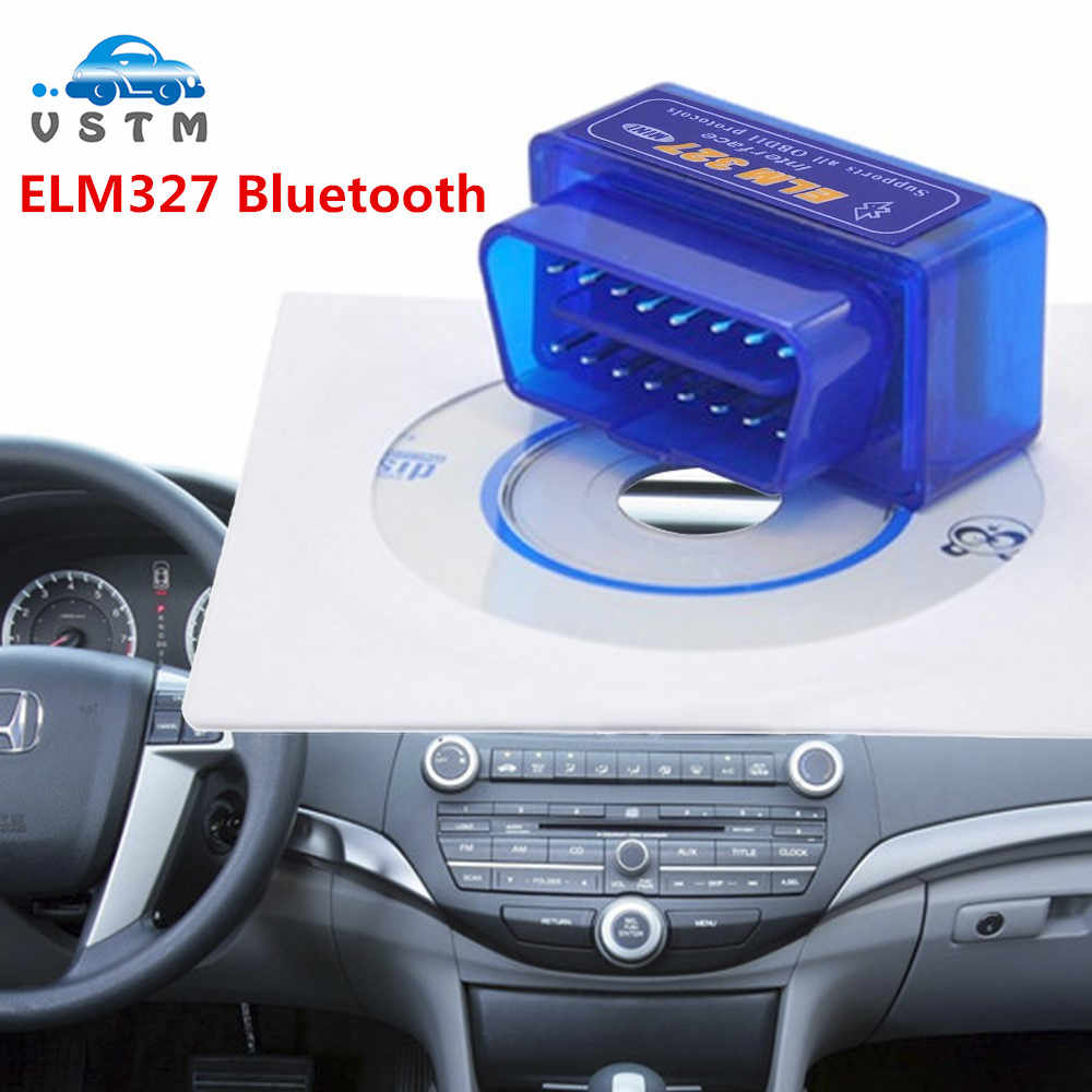 Super Mini Elm327 Bluetooth OBD2 V2.1 Elm 327 V2.1 OBD 2 Car Diagnostic-Tool Scanner Elm-327 OBDII Adapter Auto Diagnostic Tool