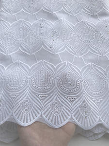 Image 3 - swiss voile lace 100% cotton Nigerian lace fabric african fabric for wedding dress 5yard/lot 5815