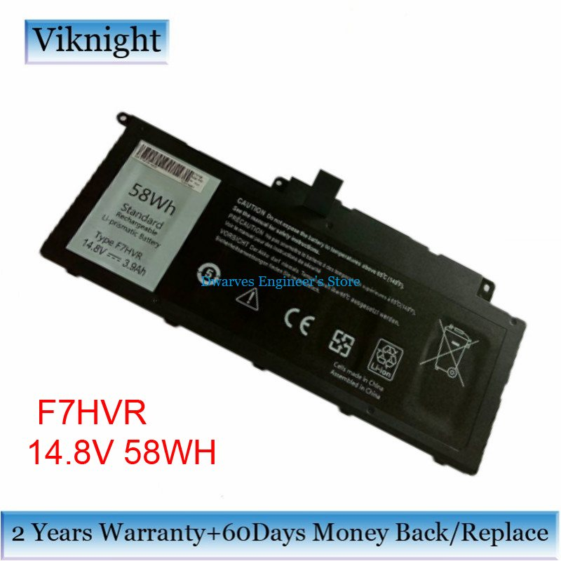 High Quality F7HVR Laptop Battery For Dell Inspiron 17 7737 15 7537 Series T2T3J G4YJM 062VNH F7HVR Battery 14.8V 62Wh купить