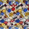 145 100cm Buggy Car And Polka Dot Cotton Fabric For Baby Boy Clothes Sewing Home Textile