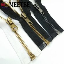 Meetee 3# 5# 50/60/70cm Bronze Metal Zipper Open-end Tail for Coat Jacket Pants Women's Handbag Sew Crafts Accessory ZA213(China)