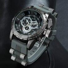 V6 Marca de Lujo Reloj Deportivo de Silicona de Moda Hombres Militar Reloj Grande Del Cuarzo Del Dial Relojes de Pulsera Para Hombres Relogio masculino 2016