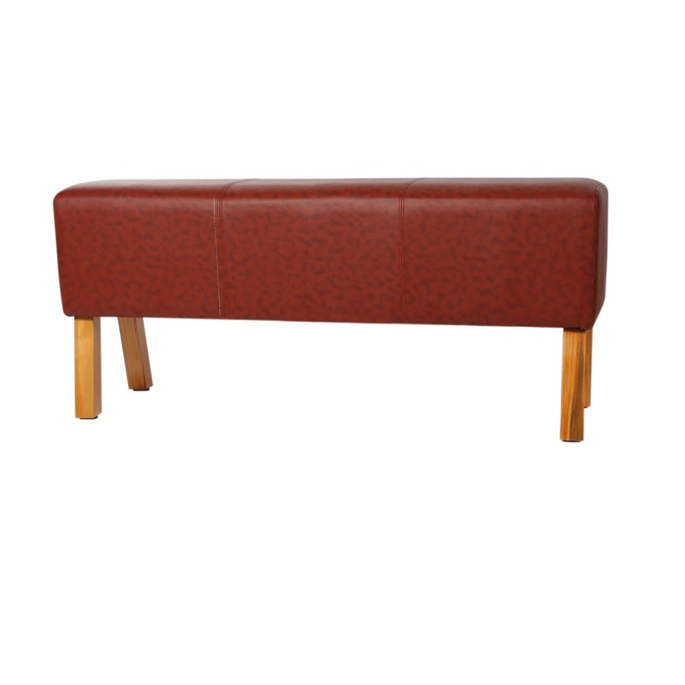 все цены на Solid Wood Design Genuine Leather Bench Modern Foot Stool Fashion Rest Bench Universal Home Living Room Furniture