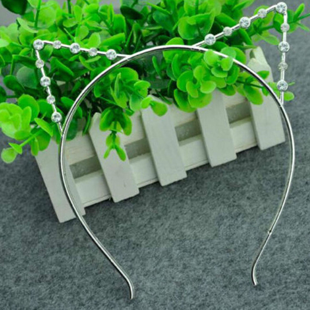 Drop shipping obręcz do włosów akcesoria perła nakrycia głowy dla kobiet party gift kocie uszy opaski imitacją perły cat uszy opaski