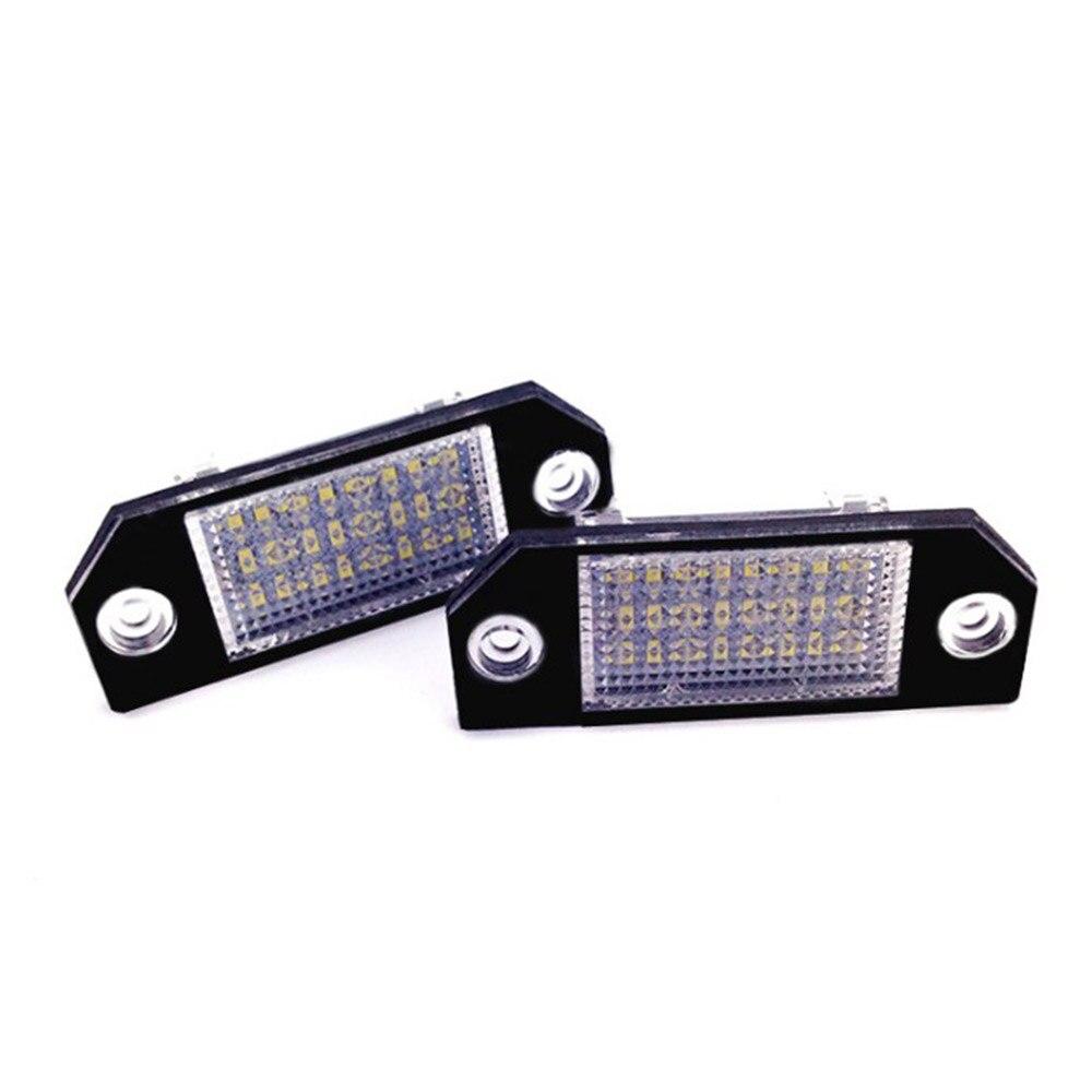 Auto Styling 2 teile/satz LED Kennzeichen Licht Lampen für Autos Reine Weiße Farbe Für Ford Focus MK2 C-MAX 03 -08