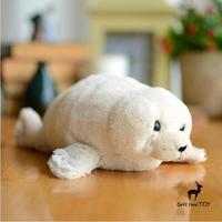 Ультра-мягкой Игрушки для маленьких детей Плюшевые животных моделирования печать мягкую игрушку куклы лежал поза белая печать