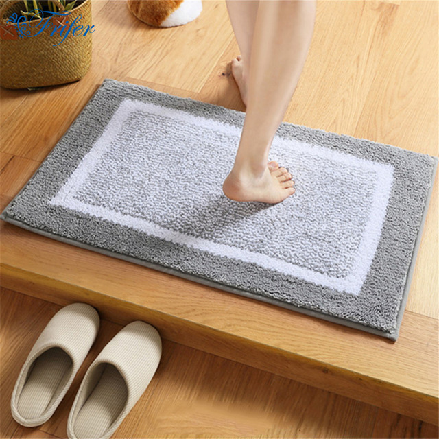 Multi Style Flocking Door Mat Outdoor Rug Bathroom Kitchen Anti-slip Floor Mats Carpet Indoor : door carpet - pezcame.com