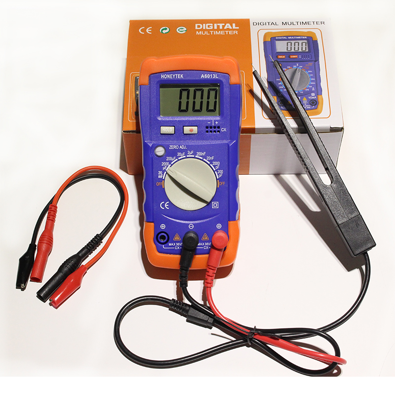 Digtital A6013L Capacitor mF uF Circuit Gauge Capacitance Meter Tester the same as XC6013L Capacitance multimeter cnim hot m6013 autorange digital capacitor capacitance circuit tester meter multimeter yellow